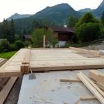 Bautag 24  - 24.7. - Einrichten 1. Balkenlage