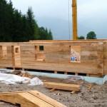 Bautag 25 - 25.7. - es wächst - Weißtannenblock 38 x 38 cm