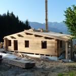 Bautag 28 - 30.7. - Dachschalung von Hand genagelt