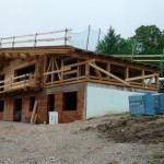 Bautag 31 - 2.8. - Fachwerk Garage aufgestellt