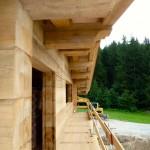 Bautag 31  - 2.8. - alles Holz montiert und Dach eingedeckt