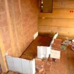 Bautag 61 - 11.9. - Aufmauern Kachelofen in 4 Tagen