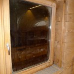 Bautag 114 - 16.11. - Fensterrahmen in stabilem Eichenrahmen