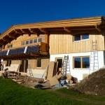 Bautag 114 - 16.11. - Aussenverschalung in Weißtanne UG