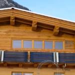 20.12. - Ansicht Süd - Balkon mit Solarkollektoren