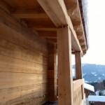 20.12. - Detail Balkon mit berücksichtigtem Setzrecht vom Holz